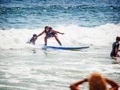 Blind Girl Surfing in NY